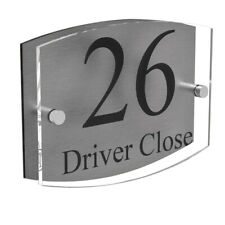 Clear Acrylic House Sign Plaque Door Number Plate