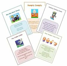 Early Years/ Childminder 5 Nursery Rhyme A4 posters wall display pack 1