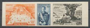 Bande FIPEX 1956 MONACO essai de couleur, ND, Superbe X4816