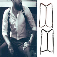 Leather Body Harness Club Costume Punk Chest Belts Adjustable Waist Straps