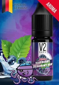 V2 Vape US Blueberry-Spearmint Drop - Blaubeer-Minz Dragee USA Style AROMA 0mg