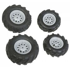 Rolly Toys Luftbereifung Bereifung Reifen Luft Felge Luft-Reifen 4 Stück grau