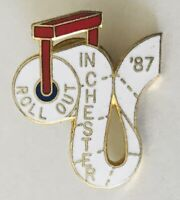 Roll Out In Chester 1987 Toilet Paper Souvenir Pin Badge Rare Vintage (L42)