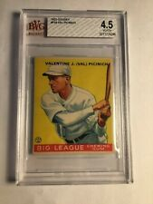 1933 GOUDEY #118 Val Picinich BVG 4.5 VG-Ex+ Brooklyn Dodgers PSA Fresh Graded