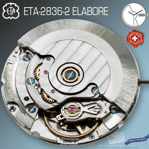MOVEMENT AUTOMATIC ETA 2836-2, ELABORE, CDG-ROTOR + BLUE SCREWS