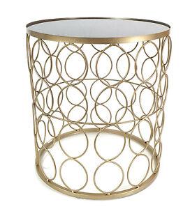Design BEISTELLTISCH Drahtkorb mit GLAS TISCHPLATTE Couchtisch Metall 54530