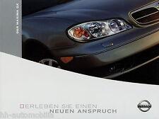 Prospekt Nissan Maxima QX 10 02 2002 Autoprospekt Broschüre Auto PKWs brochure