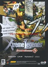 Xtreme Legends Dynasty Warriors 5 2006 Magazine Advert #4712