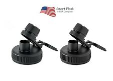 Smart Flask Sport LId Black, 2 pack, Fits Wide mouth, 18,20,32,40oz, Hydro Flask