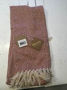 Maradji Billy Coral Losanges Luxury Throw Blanket New With Tags.