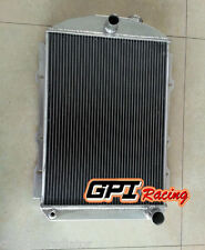 3ROW Aluminum radiator for chevy hot/street Rod 350 V8 WO Tranny Cooler MT 1938