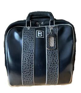 Vintage Brunswick Bowling Bag Black Leather