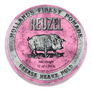 Reuzel Pink Pomade Heavy Grease 12 oz. Hair Wax & Pomade