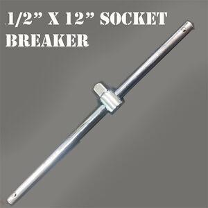 "New 1/2"" x  12""  Sliding T-Handle Socket Breaker Bar Wrench 1/2 in Drive Ratchet"