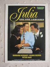 Filmplakatkarte  videoplus  Julia und ihre Liebhaber  Peter Falk, B.Hershey
