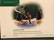 """(1) Department 56 Heritage New England #56.56633 """"Fly-Casting In The Brook"""""""