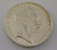 3 Mark Silber Silbermünze Wilhelm II. Deutscher Kaiser König V. Preussen 1910 A
