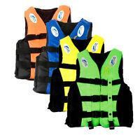 Giubbotto S-XXXL di Salvataggio Salvagente Gilet Per Bambini Adulti Maglia Barca