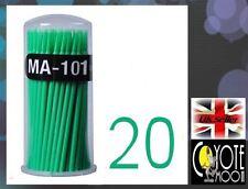 Swab Micro Brush Disposable Microbrush Applicators Eyelash Extensions Green UK