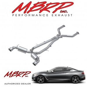 "MBRP 3"" Cat Back Dual Rear Exhaust Kit Fits 2017-2019 Infiniti Q60 3.0L"