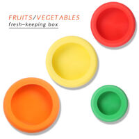4PCS Reusable Silicone Food Fruit Vegetable Freshware Stretch Lid Cover Saver