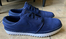 New listing Nike Stefan Janoski G Navy Blue White Spikeless Golf Shoes AT4967-400 Men Sz 9.5