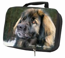 More details for black leonberger 'love you mum' black insulated school lunch box b, ad-l56lymlbb