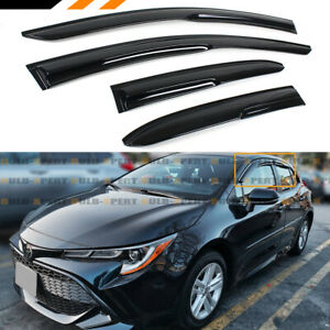 FOR 19-21 TOYOTA COROLLA HATCHBACK JDM 3D WAVY WINDOW VISOR RAIN GUARD DEFLECTOR