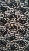Black Stretch Nylon Lycra Lace Fabric    FREE UK P&P