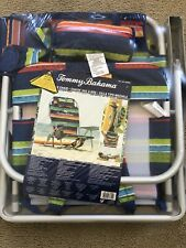 Tommy Bahama 5 position Backpack/Cooler Beach Chair - Blue/Green/Red/Yel - 2