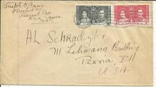 Jamaica CORONATION ISSUE SG#118,#119 Kingston JUN/30/1937 to USA