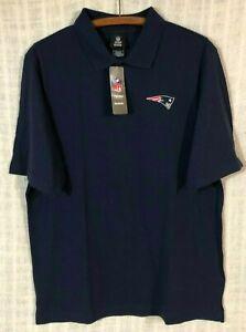 NWT New England Patriots Men's Blue Short Sleeve Polo Shirt~Medium MSRP $30.00