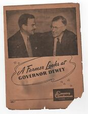 1944 GOVERNOR THOMAS DEWEY RNC Brochure COUNTRY GENTLEMAN Republican POLITICAL