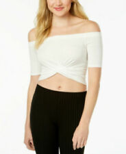 Material Girl ' Off-The-Shoulder Twist-Back Crop Top, size small