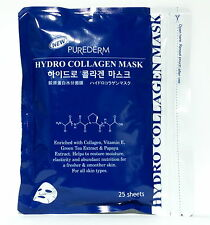 FACIAL COLLAGEN MASK SHEET ANTI AGING WRINKLE 1PACK 25 SHEETS PUREDERM SKIN CARE