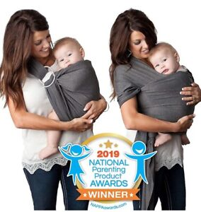 4 In 1 Wear Baby Wrap Kids N Such Charcoal Grey Cotton Postpartum Carrier Sling