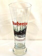 Budweiser Clydesdales Christmas Winter Pilsner Tall Beer Glass Mug Cup 1992