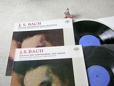 BACH Violin Sonatas JOSEF SUK ZUZANA RUZICKOVA CZECH 2LP Set SUPRAPHON STEREO