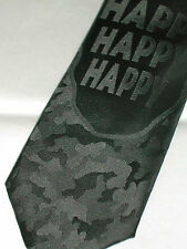 "Duck Dynasty Men's Tie, ""Phil""Tie, Black, Novelty, Polyester, Skinny, 57""L NEW"