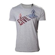 MARVEL COMICS maschio adulto Capitan America: CIVIL WAR STARK VS CAP T-shirt Grigio XL