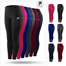 Women Yoga Leggings Pockets Fitness Running Gym Sports Stretch Active Wear Pants