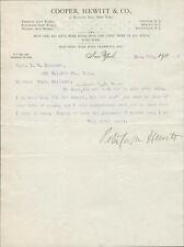 Peter Cooper Hewitt Signed Autographed Letter Mercury-Vapor Lamp Inventor