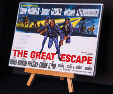 "GREAT ESCAPE  ""Steve McQueen"" MOVIE POSTER CANVAS PRINT"