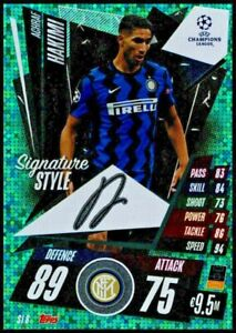2020/21TOPPS MATCH ATTAX EXTRA HAKIMI SI8 INTER MILAN SIGNATURE STYLE CARD NEW
