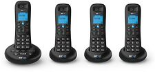 Digital Cordless Phone Set of 4 With Answering Machine BT