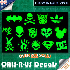 Glow in Dark Luggage Skateboard Vinyl Decal Sticker DC Shoes Batman Mickey Skull