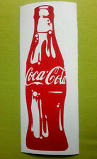 "Coca - cola bottle Vinyl decal sticker 11"" X 3"" wall car glass cafe kitchen"