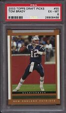 2003 Topps Draft Picks & Prospects 55 Tom Brady PSA 6 Excellent-Mint