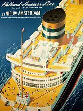 Trasporto VIAGGIO HOLLAND AMERICA OCEAN LINER nave IMBUTO PONTE BASSI USA