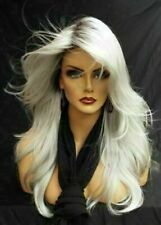 Heat Resistant Wig New Fashion Glamour Women's Long Silver White Straight Wigs